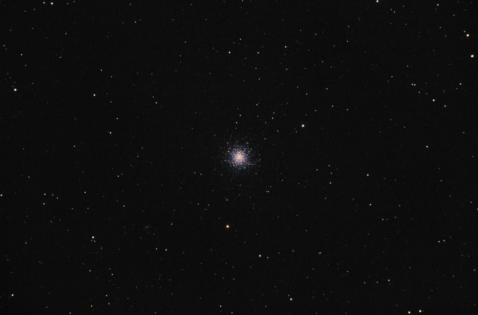 Image of star with optical aberration